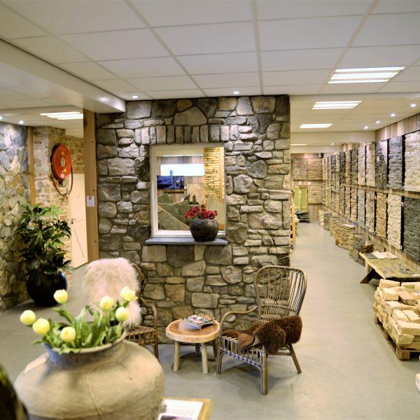 Unieke showroom met Natuurstenen